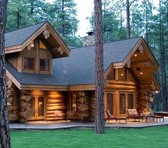 unique log homes