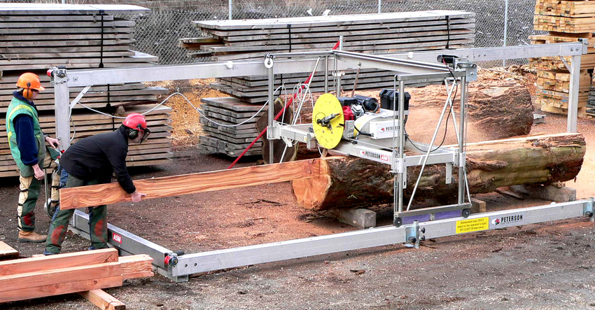 Automated Portable Commercial Sawmill by Peterson Portable Sawmills