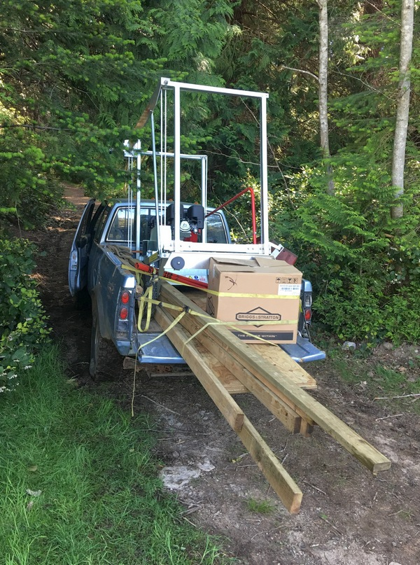 mobile sawmill truck