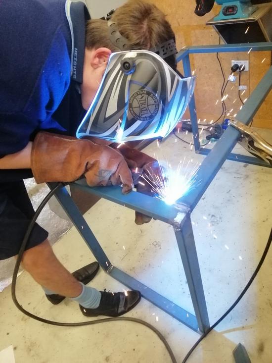mig welding furniture frame