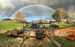 outdoors sawmilling