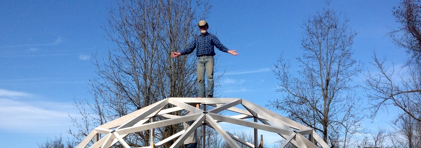 geodesic dome build lumber sawmill