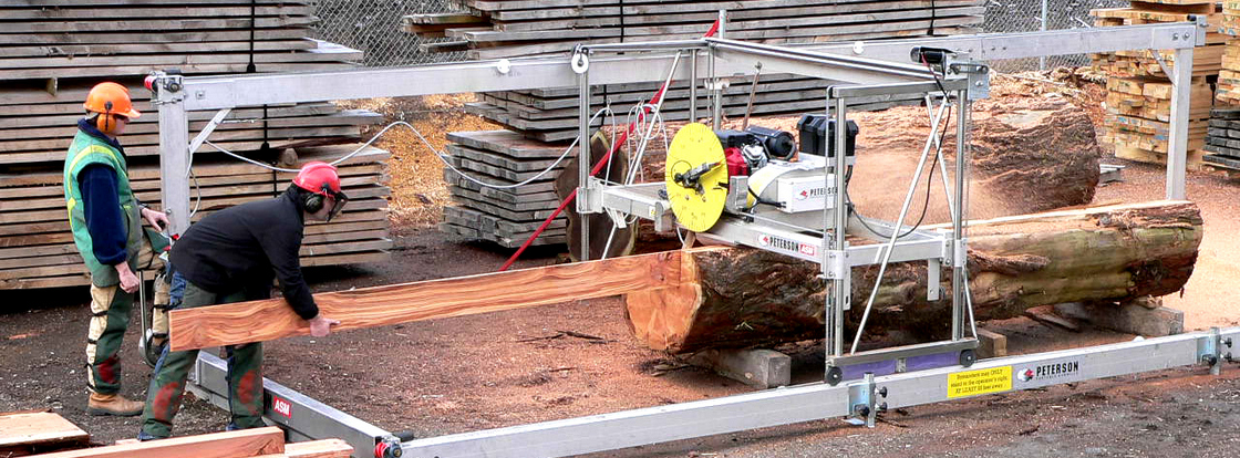 high production, automated portable commercial sawmill