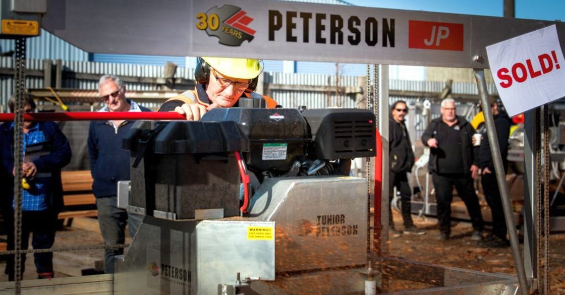 Portable sawmill demonstrations