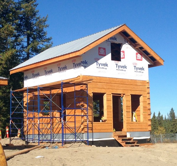 2Dovetail 8x12s Timber House on 6 concrete foundation