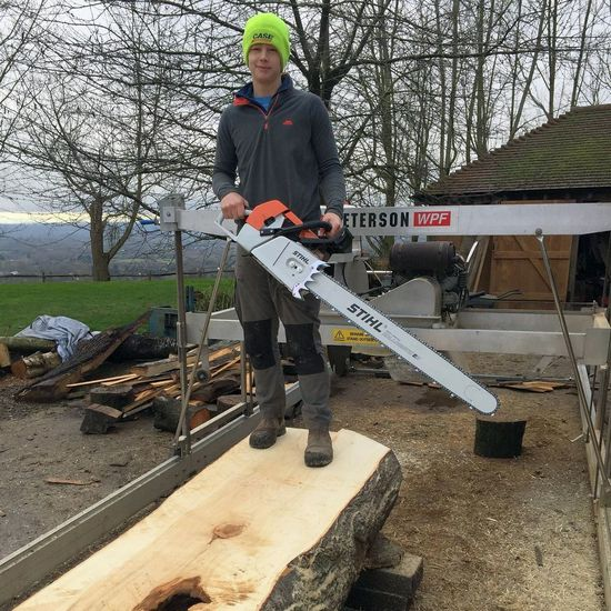 chainsaw milling slabs uk