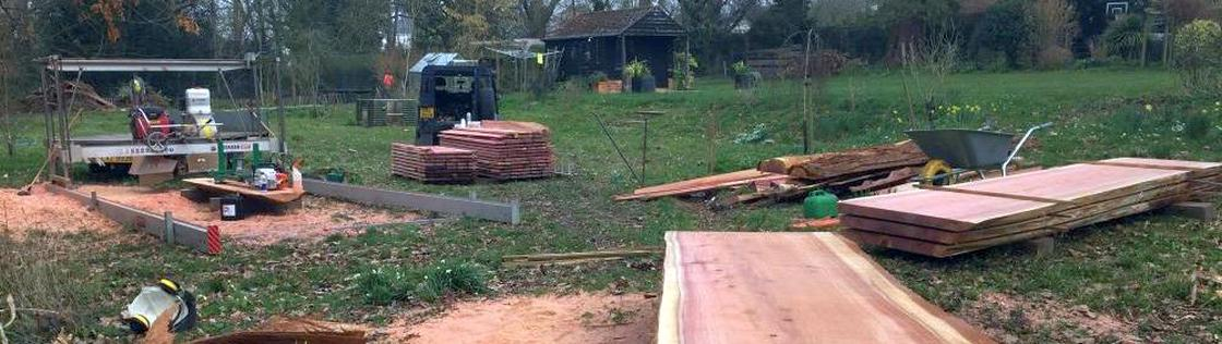 portables sawmill site setup example