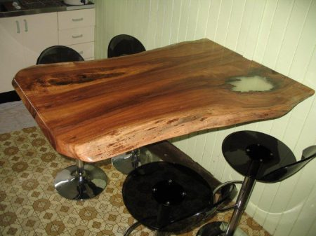 Breakfast bar slab produced from JP part timers sawmill